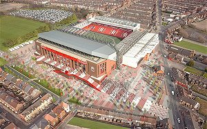 Plans unveiled for Anfield stadium redesign