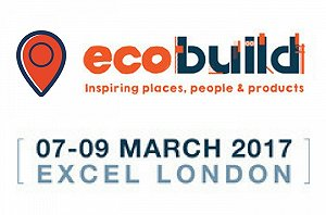 Ecobuild banner - sustainable design, construction and energy