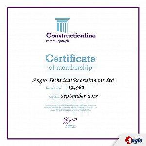 Construction Supplier certification