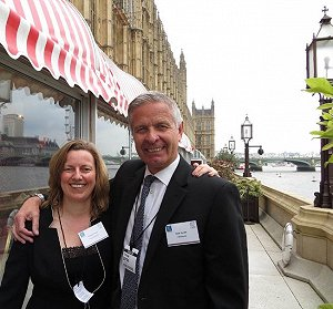 Kyrsten Perry of Anglo Technical Recruitment with Allan Hurdle of Fläkt Woods UK Limited