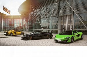 McLaren open chassis manufacturing facility