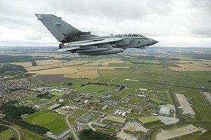 A Tornado GR4 aircraft flies high over it's parent station of RAF Lossiemouth in Scotland. Photo: SAC Kay-Marie Bingham, RAF/MOD