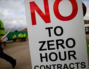 Protests against zero hours contracts