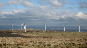 View of an onshore wind farm