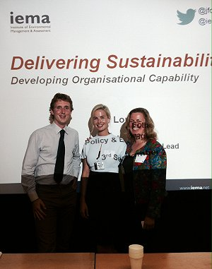 Kyrsten Perry and Kelly Cooper at the IEMA Delivering Sustainability Conference