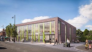 An artist's impression of the Manchester Institute of Health and Performance (source: AHR Global)