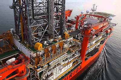 BP drilling rig ship