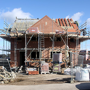 A house under construction. Photo courtesy of Shutterstock