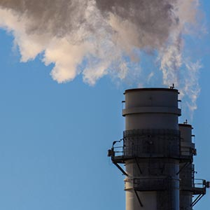 Smoke stacks at a gas fired power plant. Photo by David J.