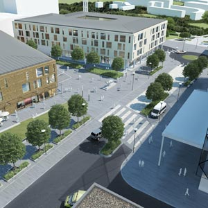 Artist's impression of the Watford Health Campus. Image courtesy of the West Hertfordshire Hospitals NHS Trust