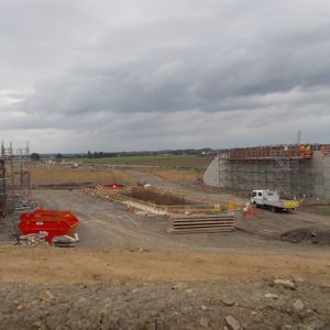Construction of a new grade separated junction on the A1(M) upgrade between Leeming and Barton in Yorkshire.