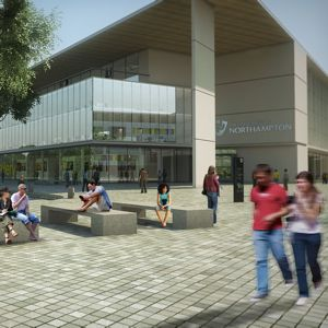 An artist's impression of the new campus. Photo courtesy of University of Northampton