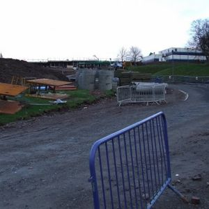 The site of St Columba's High School, demolished to make way for the new prison.