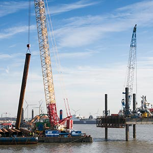 Piling work starts on £300M container port