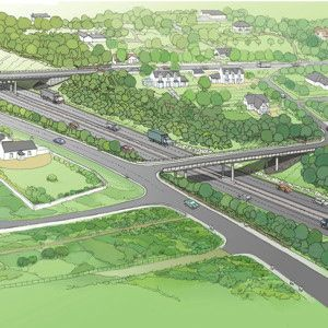 An artist's impression of part of the scheme. Photo courtesy of Transport Scotland