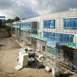 Dixons Allerton Academy, Bradford, under construction. Photo: BBA