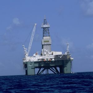 A Repsol offshore exploration rig. Photo courtesy of Repsol