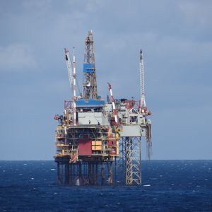 An oil rig in the North Sea. Photo courtesy of Gary Bembridge