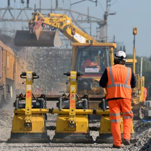 Rail works taking place recently near Watford. Photo courtesy of Network Rail