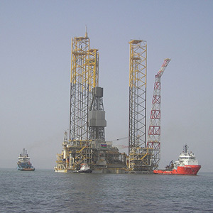 The Shah Deniz Alpha gas production platform. Photo: BP