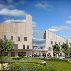An artist's impression of the new hospital. Photo courtesy of NHS Dumfries and Galloway