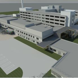 An artist's impression of the redeveloped hospital. Photo courtesy of Cwm Taf University Health Board.