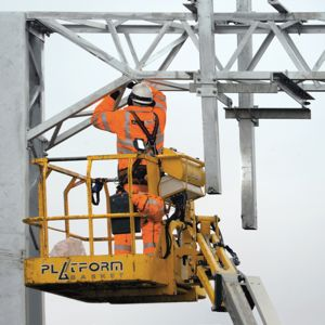 Rail electrification work under way. Photo: Network Rail