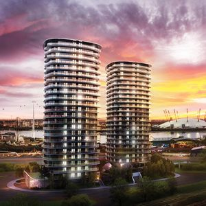 An artist's impression of the towers
