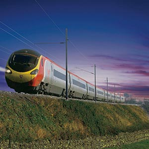 A train on the West Coast main line. Photo courtesy of Network Rail.