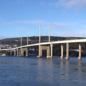 Kessock Bridge carries the A9 trunk road across the Beauly Firth at Inverness