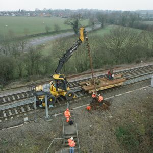 Signal piling work underway. photo courtesy of Network Rail