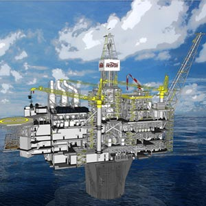 An artist's impression of a Hebron oil rig. Photo courtesy of the Hebron Project.