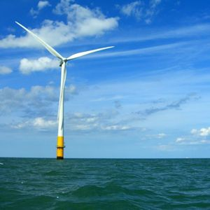 An offshore wind turbine in the Thames Estuary. Photo courtesy of Phault