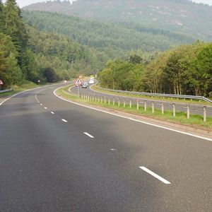 The A9 at Pass of Birnam