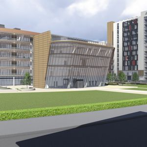 An artist's impression of the new Fletcher complex. Photo courtesy of Balfour Beatty