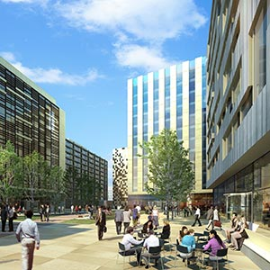 Artist's Impression of the Arena central, Birmingham. Photo courtesy of Miller Developments.