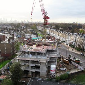 Private Housing will be one of the main drivers for construction growth. Photo courtesy of David Holt London