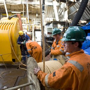 Wood Group PSN operatives work on a North Sea asset. Photo: Wood Group
