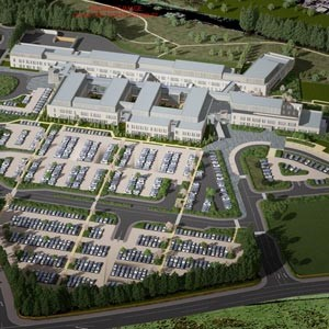 An artist's impression of the new hospital development