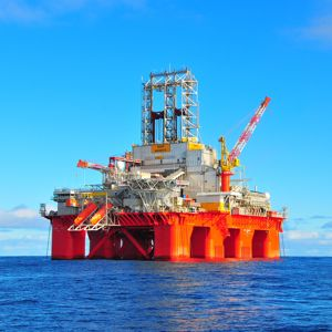 A semisub rig in the North Sea. Photo courtesy of Transocean Ltd