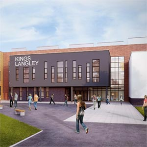 An artist's impression of King's Langley school, courtesy of Rock Townsend