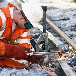 Track maintenance work under way. Photo Network Rail