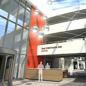 An artist's impression of the new cancer centre at the RUH. Photo courtesy of Nightingale Associates.