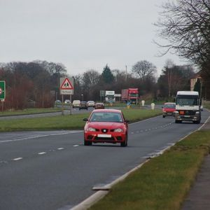 An already dualled section of the A26 in Northern Ireland