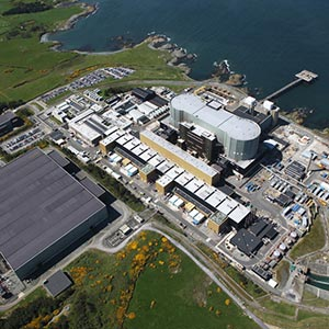 Wylfa nuclear power station. Photo courtesy of the Nuclear Decommissioning Authority.