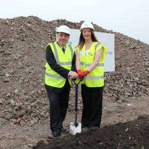 First Minister Alex Salmond recently marked the start of work on the Ayrshire College Kilmarnock Campus redevelopment with apprentice Rachel Kyle. Photo: Scottish Government
