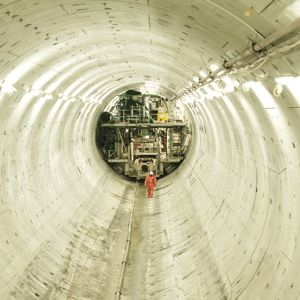 The Lee Tunnel (pictured) will connect with the Thames Tideway Tunnel. Photo courtesy of Thames Water