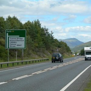 The A9 will be dualled between Perth and Inverness. Photo courtesy of Mary and Angus Hogg