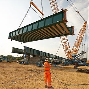 Work on the North Doncaster Chord, a rail project. Photo: Network Rail